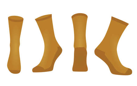 Brown sport socks. vector illustration  イラスト・ベクター素材