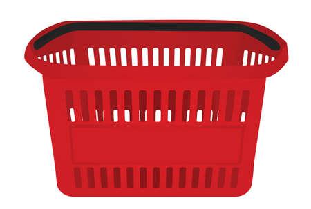 Red supermarket basket. vector illustration 矢量图像