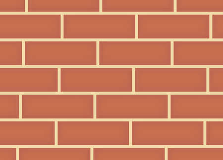 Simple Brick wall background, vector  イラスト・ベクター素材