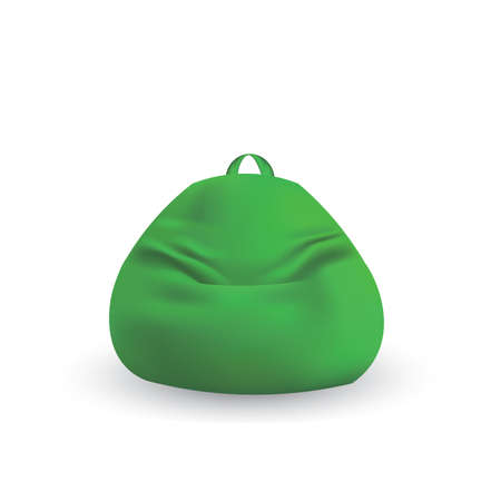 Green  lazy bag. vector illustration
