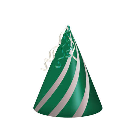 Green  party hat. vector illustration