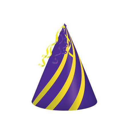Purple party hat. vector illustration