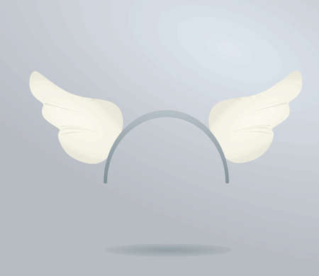 White angel's wings headband mask. vector illustration