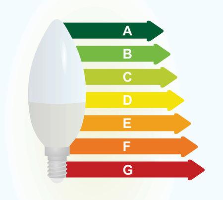 Energy class bulb icon. vector Ilustração