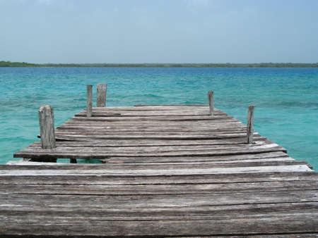Bacalar Lagoon 版權商用圖片