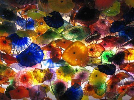 installment: Blown glass ceiling installment, Las Vegas Stock Photo