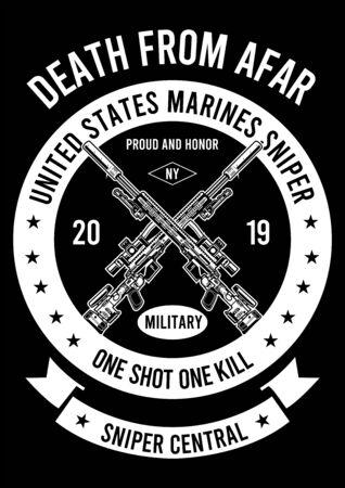 sniper central design Ilustracje wektorowe