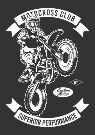 motorcrossclub superieure prestaties Vector Illustratie