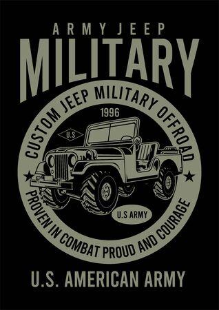 army custom offroad Illustration