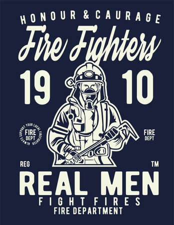 fire fighter Illustration