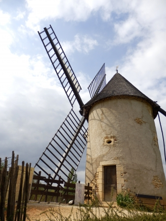 Ancient French windmill used for the production of flour photo
