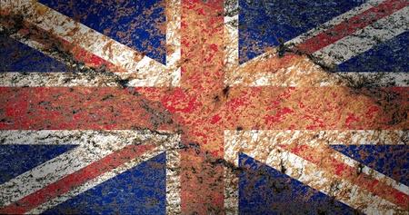 bandiera inglese: Union Jack Flag sul rock texture Archivio Fotografico