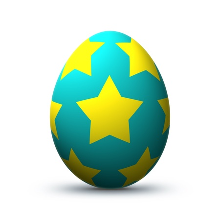 hen's: Colorful easter egg isolated before white background