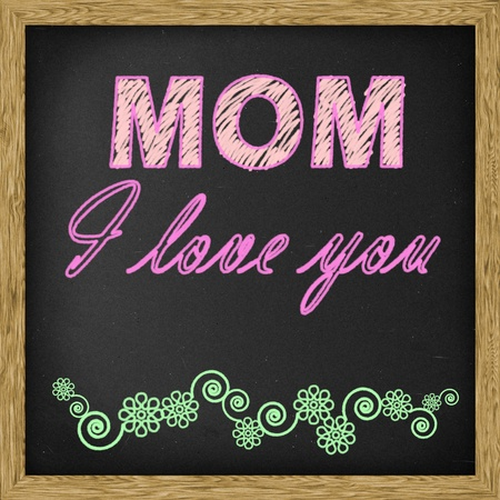 te amo: Madre feliz