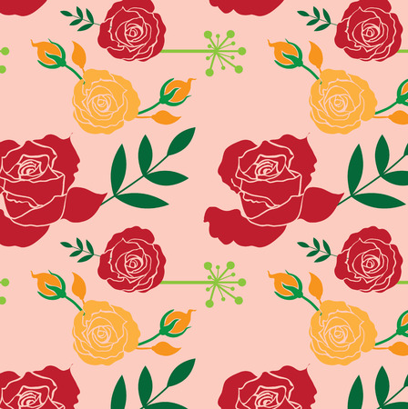 eps10 vector background: Floral Roses Pattern Elements for design, EPS10 Vector background Illustration