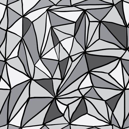 triangulation: Hand Drawn Polygon Triangulation Seamless Pattern, Vector EPS10 Background