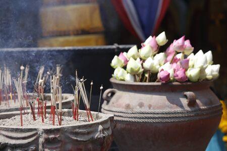 Bud lotus, flower of buddhist Stock Photo