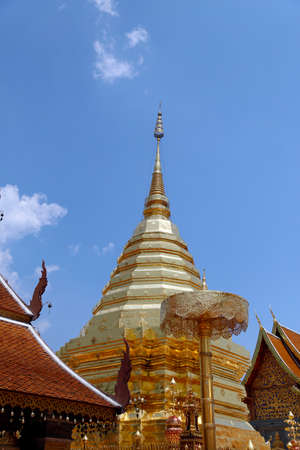 chaingmai: Wat Phrathat Doi Suthep in Chaingmai, Thailand The inner sanctuary is one of the classic sights of Chiang Mai