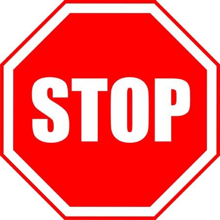 Traffico, fermata, segno, grafiche, isolate, su, bianco,  Vettoriali