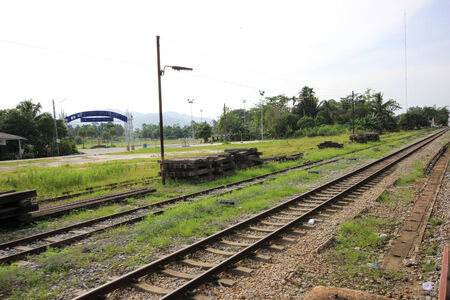 Railroad in Thailand photo