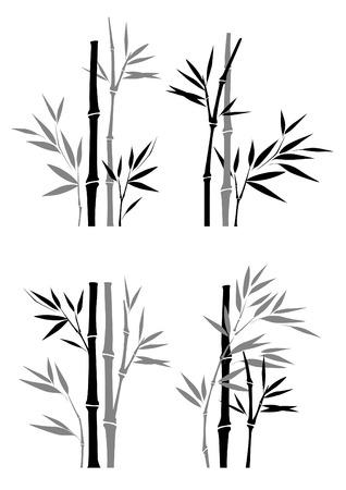 ensemble de bambou  Vecteurs