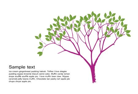 Vector of simple tree with sample text Stock Vector - 17736869