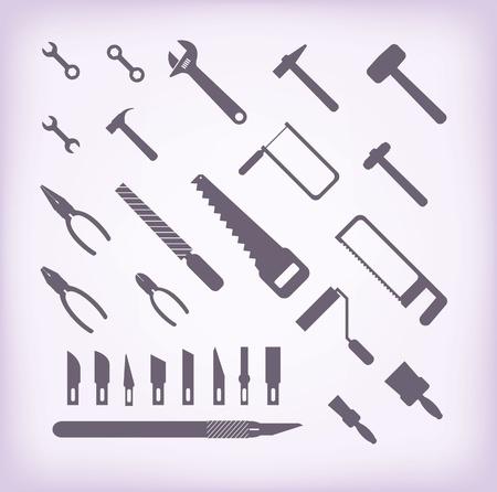 rasp: set of vector icons  Isolated symbols