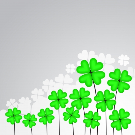 clover leaf vector background Vector
