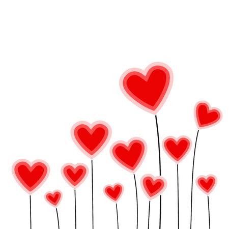 shiny hearts: Vector illustration of heart flower Illustration