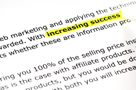 increasing: Increasing success Stock Photo