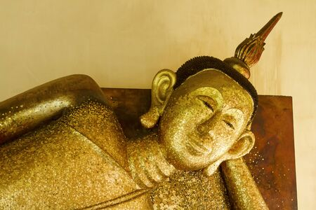 reclining buddha at Wat Pa Pradu Rayong province Thailand photo
