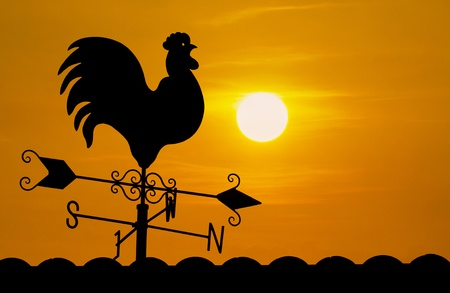 Weather Vane in sunrise