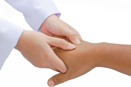digital pressure hands ,deep fixtion massage therapy physiotherapy Stock Photo - 13421442