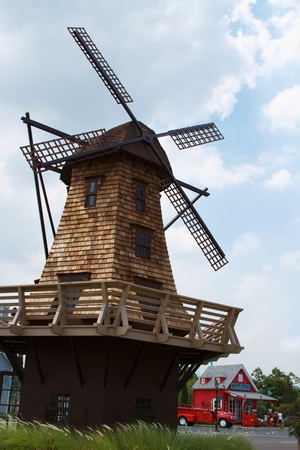 beautiful windmill in thailand photo