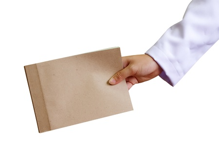 doctor give record of patients ;doctor give book of patients photo