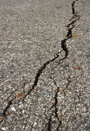 Crack  asphalt road photo