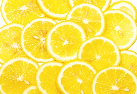fresh lemon slices pattern,background on white