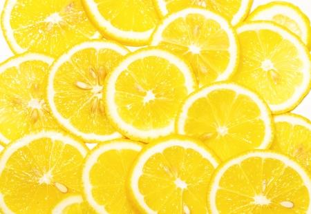 fresh lemon slices pattern,background on white  photo