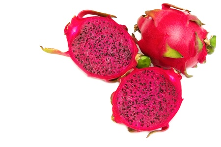 Dragon Fruit, Pitaya fruit on isolated on a white background photo