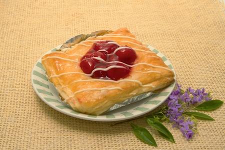 cherry danish pastry   photo