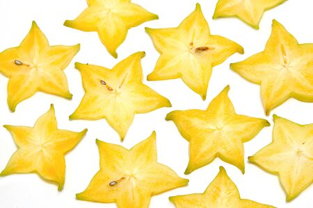 Starfruit, Carambola slice pattern ,background photo
