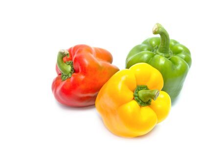 peper: colorful  paprika on white backgroud