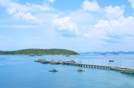 View point of Koh Sichang harbor, Chonburi province, Thailand Stock Photo - 15884676