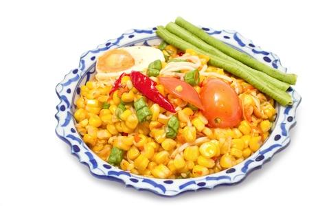 green papaya  and corn salad thai traditional food Stock Photo - 15984513