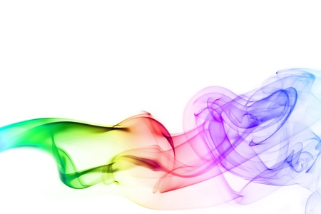 cool colors: Abstract colorful smoke