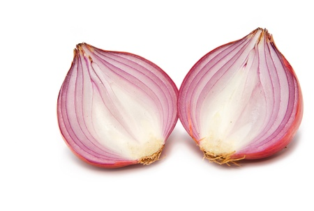 Sliced shallot  on white background Stock Photo - 16565633
