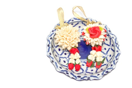 malai: Malai The flower in Thai Tradition Style,meaning for greeting and welcome