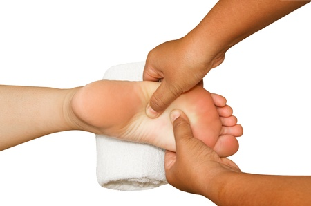 spa foot massage,reflexology foot massage Stock Photo - 17058527