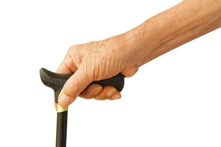 senior man holding a cane Фото со стока