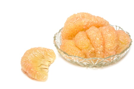 pummelo:  pummelo fruit,thai fruit  isolated on a white background.